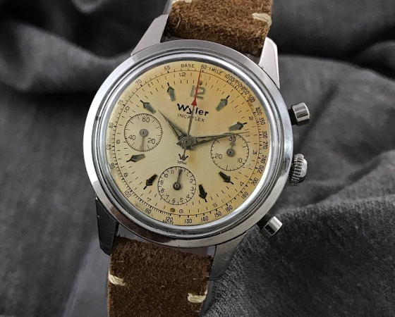 Vintage 1960's Wyler Chronograph Val.72 37mm
