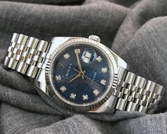 Datejust 116234 Blue Jubilee Diamond Dial