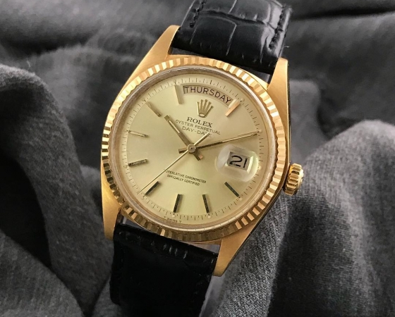 Vintage Rolex Day Date 1803 YG 36mm.3.9mil ca.1973